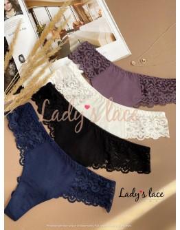 Купить Набор хлопковых бразильян Черный в интернет-магазине нижнего белья Lady's Lace.